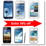 [Expired] Extra 10% off on Samsung Smart Phones at Tradus