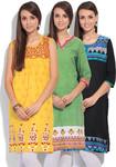 Set of 3 Kurtas For Women (Ethnic) @ 999 (WS Retail)