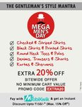 Flat 50% off + extra 20% off on all products with no minimum purchase
