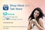 101/- Mobikwik Voucher on Shopping    Amazon App