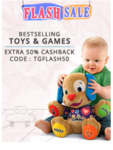 EXTRA 50% CB ON BESTSELLING TOYS AND GAMES WITH PAYTM