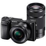 [CHEAPEST] Sony ILCE-6000Y/B (24.3 MP) DSLR (Black) with SELP1650 & SEL55210 Lens + Carry Case + 8GB SD Card @46642 ||  [ LAST FPD -@48307]