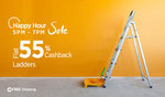 Flat 55% cashback on Ladders