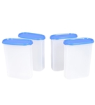 Buy Tupperware Modular Mate Blue Oval 2300 ML (Each) Storage Container - Set of 4 For Rs.769