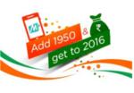 [Live Now] Add 1950 to get 2016 @mobikwik