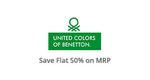 Flat 50%  On United Colors of Benetton @ Paytm