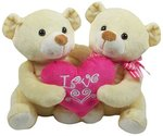 Archies Soft Toy Couple Bear with Heart, Multi Color (22cm)@360 mrp 899 Amazon