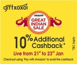 10% Additional Cashback* at Giftxoxo on all vouchers and experiences Valid on Citi Debit and Credit Cards