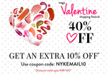 Nykaa Valentine Day offer -  Extra 10% off upto Rs 100/-