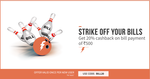 Get 20% cashback on transaction of Rs.500 or more. New user only. Use code: BILL20.