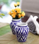 Flat 43% off, Neerja Pottery Blue & White Ceramic Vase for Rs. 974 - Pepperfry.com