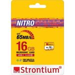 Buy Strontium Nitro 16GB Memory Card - MICROSDHC UHS-1 CLASS-10 433X 65MB/s For Rs.245