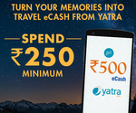 Spend minimum Rs 250 on Zoomin, get Rs 500 eCash ✈