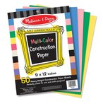 "Multi-Color Construction Paper (9""x12"") by Melissa & Doug @ 199 MRP 1699"