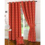 Presto Floral Peach Jacquard Curtain Window curtain for Rs. 615 @ Fabfurnish