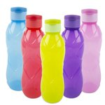 Cello Rugby Flip Polypropylene Bottle, 1 Litre, Set of 5, Multicolor @370 (Mrp.550)
