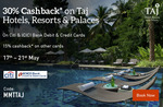 Flat 30% off upto Rs. 30000 on Taj Hotel bookings for citibank card holders