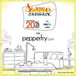Pepperfry Paytm Summer Cashback - Flat 20% Cashback on Pepperfry.com via Paytm Wallet