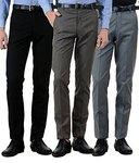 American-Elm Men's Cotton Formal Trousers- Pack of 3 for Rs. 1,399 @ Amazon