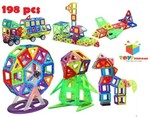 Toys Bhoomi 198 Piece Magical Magnetic Building Blocks Brain Booster Educational Toys for Kids - Huge Learning Set@6999[cheaper than last FPD]