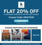 FLAT 20% off on prescription medicines & 15% off on OTC products on 1mg [No minimum order value]