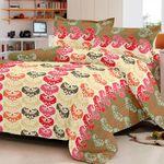 Flat 65% Off, SEJ Floral Orange Red And Pink Bed Set for Rs. 699 - Fabfurnish.com