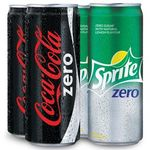 Coca Cola Zero & Sprite Zero 300ml Can Pack of 4 at Rs. 99 (Free Shipping)