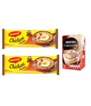Maggi Chicken Noodles (Pack of 2) + Nestle Cappucino- Rs  147  [ 33 %  off   ] @ snapdeal