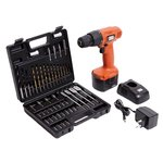 Black & Decker CD121K50 12-Volt Cordless Drill/Driver with Keyless Chuck and 50 Accessories Kit  @Rs.2899  (MRP.7305)