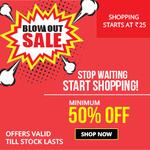 Zotezo Blow Out Sale - Minimum 50% off (Starting Rs 25)