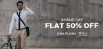 Brand Day Flat 50% Off John Players & Wills Brands @ Jabong