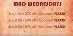 Hidekraft Mad Wednesdays: Buy 1 Get 20% Off | Buy 2 Get 35% | Buy 3 Get 50%