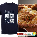 Biryani Offer for Hyderabad : On purchase of Rs.299 or above get a Free T- Shirt worth 499 Rupees of their choice.