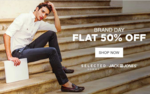 Brand Day - Flat 50% Off on Selected, Jack & Jones @Jabong