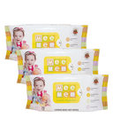 Mee Mee Caring Baby wet Wipes with Lemon Fragrance (72 pcs)-Set of 3 @243