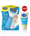 Scholl Velvet Smooth Express Pedi Electronic Foot File with Foot and Nail Cream Free  @Rs.1799/-