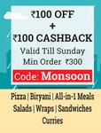 100 off + 100 Cashback + 15% mobikwik cashback on order of 300 @ Box8