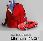 MINIMUM 40% OFF ON TOYS & SCHOOL SUPPLIES @ FLIPKART