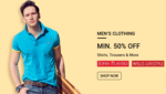 Min. 50% Off on JohnPlayers, WIlls Lifestyle Clothing - Snapdeal