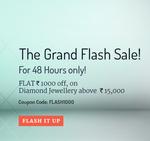 Get Rs.1000 off on Diamond Jewellery @Bluestone