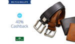 Get flat 40% cashback on Woodland Accesories