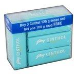 Cinthol Cool Soap, 125g (Pack of 3) + 100g Free@86 MRP 117