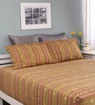 Flat 52% Off, Raymond Home Mustard Cotton Queen Camphor Bed Sheet with 2 Pillow Covers for Rs. 959 - Pepperfry.com