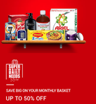 Get Upto 50% off on monthly needs