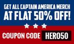 Get Flat 50% off on Captain America Merchandise