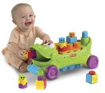 Fisher-Price Stack 'n Surprise Blocks Musical Croc Block Wagon