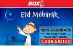 Eid offer: 100% cashback on minimum order of Rs 250 only for today