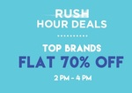 Flat 70% OFF on Top Brands + Extra 10% off