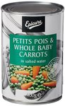 Epicure Petits Pois and Whole Baby Carrots, 400g