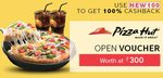 Get 100% cashback on Pizza Hut Voucher and other deals (Valid for All Users)